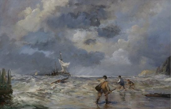 Oil painting from after the storm
