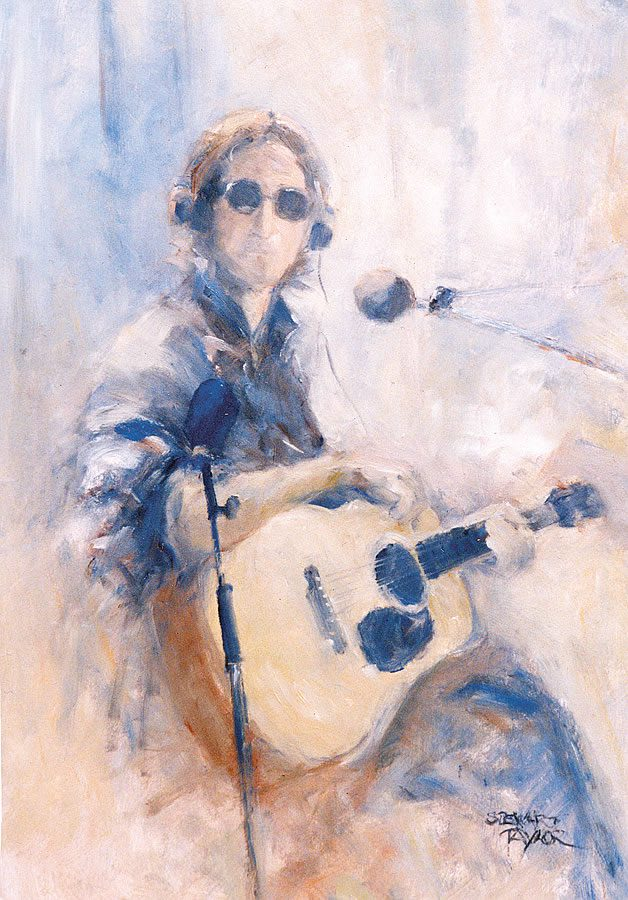 John Lennon from an original painting by Stewart Taylor