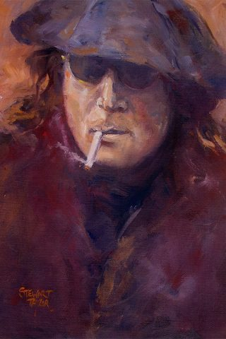John Lennon from an original oil painting by Stewart Taylor
