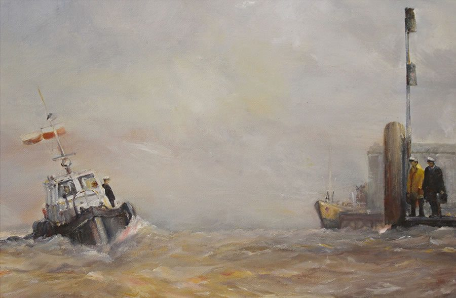 Marine oil painting by Stewart Taylor