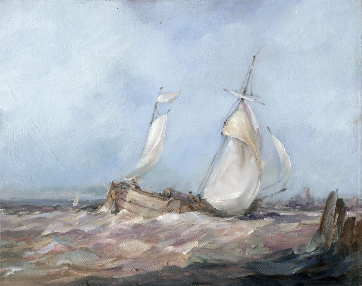 Marine oil painting from Paull on Humber