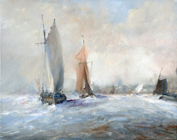Sail boats racing