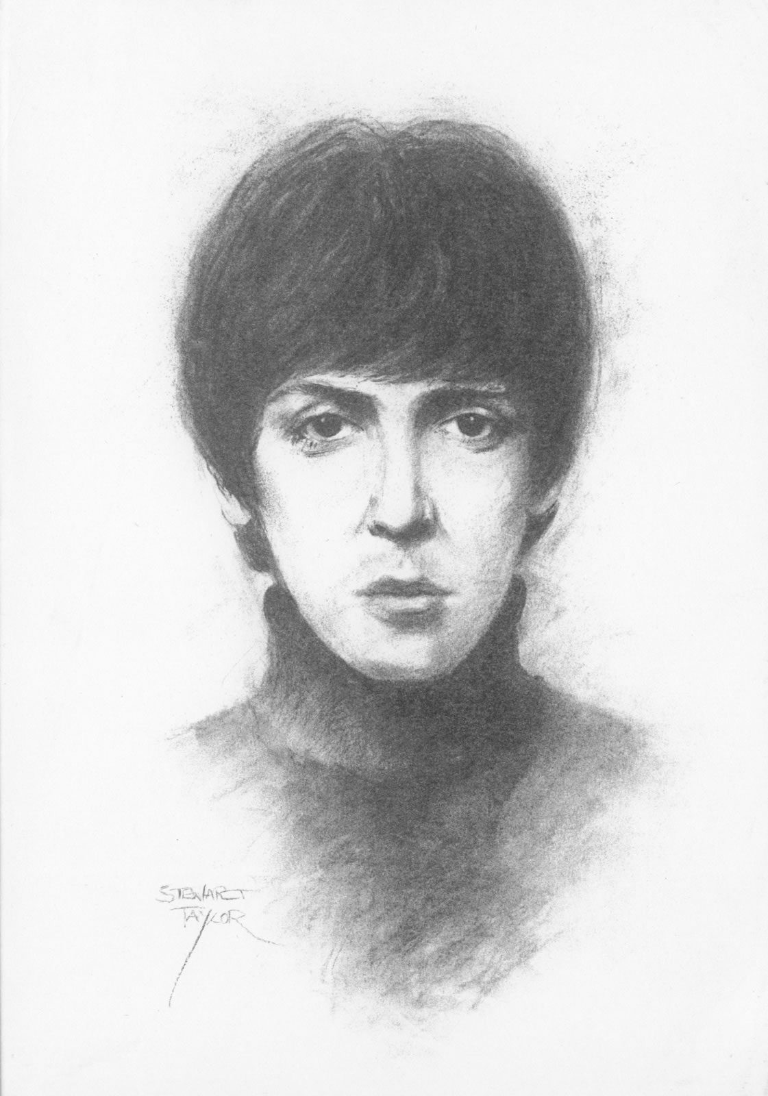 McCartney In The Beginning from an original charcoal by Stewart Taylor
