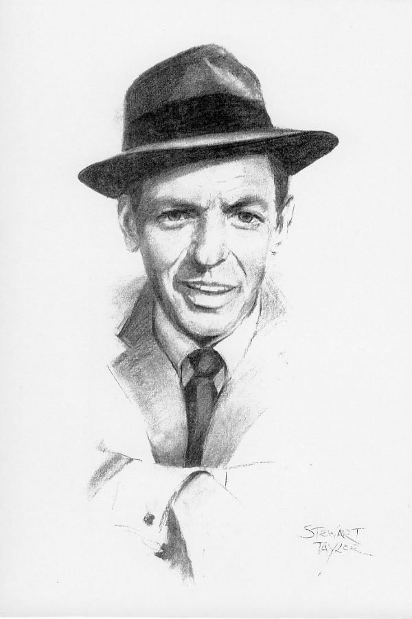 Frank Sinatra from an original charcoal by Stewart Taylor