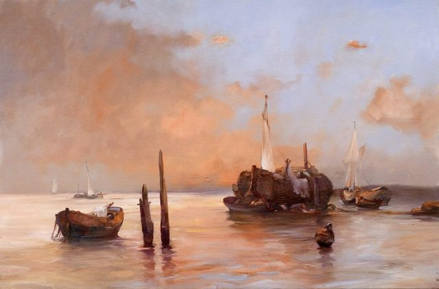 Maritime oil painting by Stewart Taylor