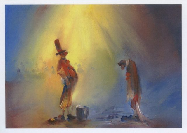 Another Fine Mess – circus study from an original painting by Stewart Taylor