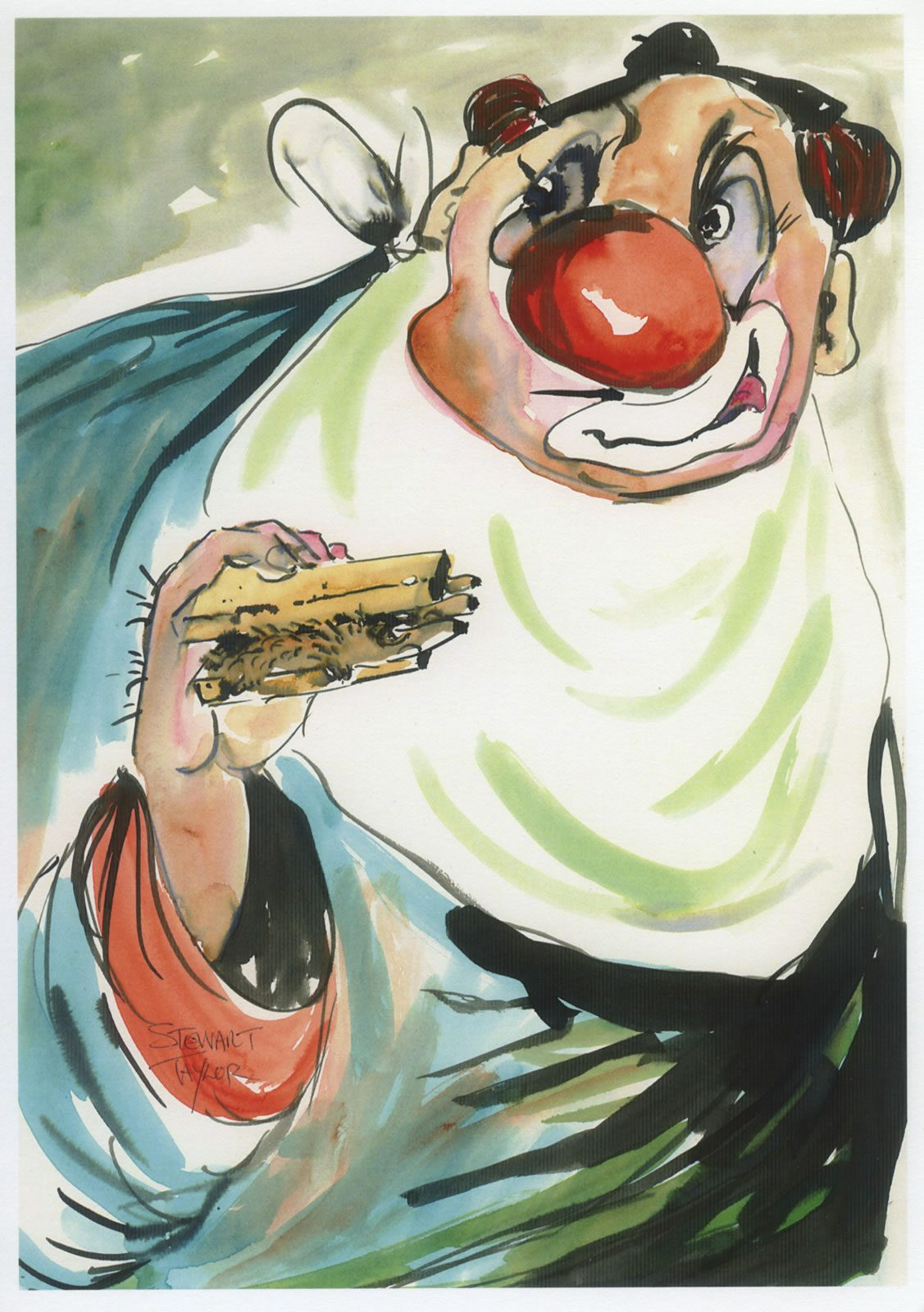 Connoisseur 2 – clown portrait from an original painting by Stewart Taylor