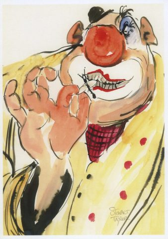 Connoisseur – clown study from an original painting by Stewart Taylor