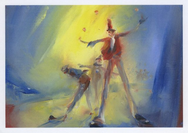 Encore – circus study from an original painting by Stewart Taylor