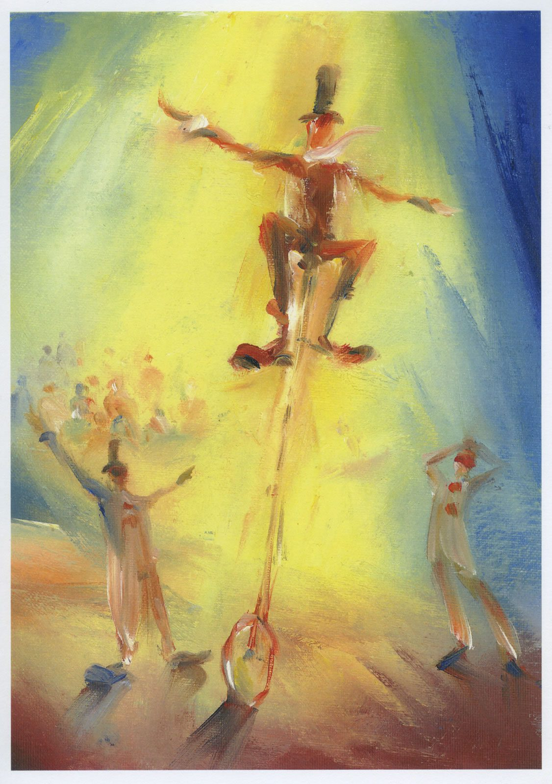 Look No Hands – circus study from an original painting by Stewart Taylor
