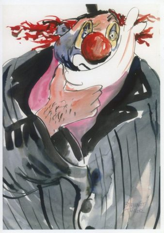 No Laughing Matter – clown study from an original painting by Stewart Taylor