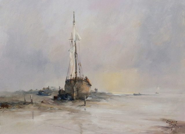 Romantic maritime landscape painting by East Yorkshire artist Stewart Taylor