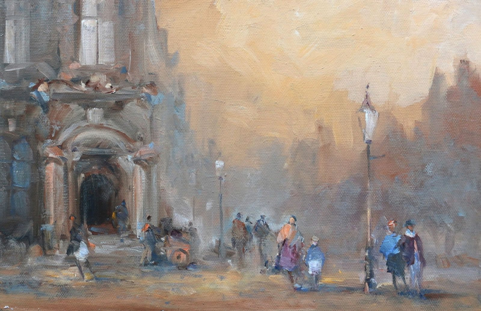 19th Century Paris street in oils by Stewart Taylor