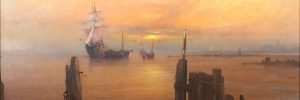 A collection of romantic marine oil paintings by Stewart Taylor