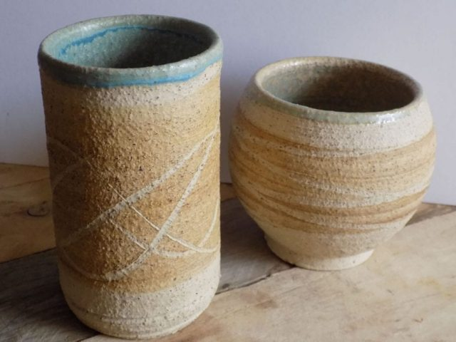 Stoneware jars by Stewart Taylor ceramics East Yorkshire