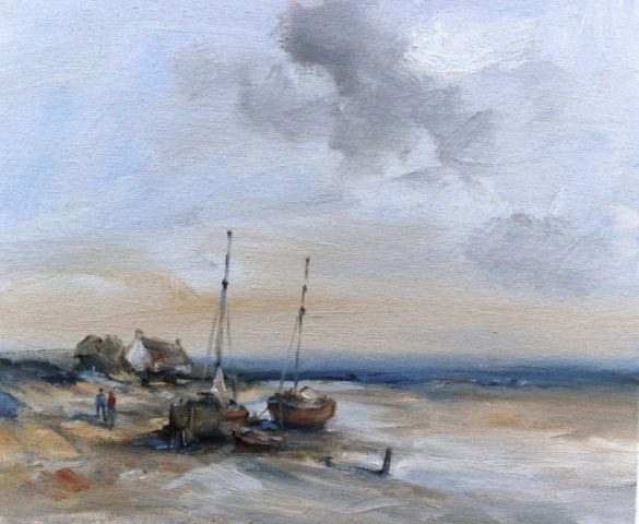 Yorkshire landscape painting in oils my romantic marine artist Stewart Taylor