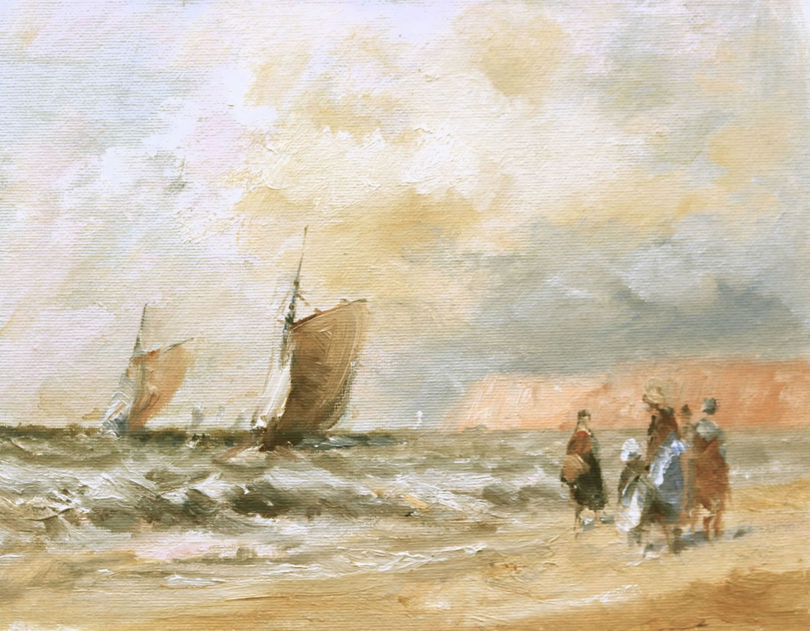 Romantic seascape painted by Stewart Taylor
