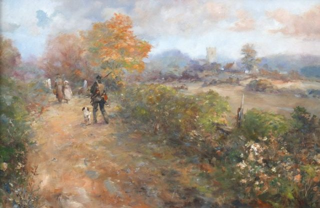 Countryside scene in oils by East Yorkshire artist Stewart Taylor