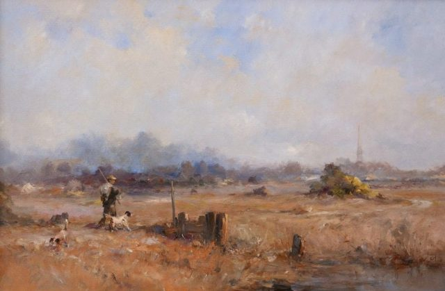 Historical country scene from near Sunk Island East Yorkshire by artist Stewart Taylor