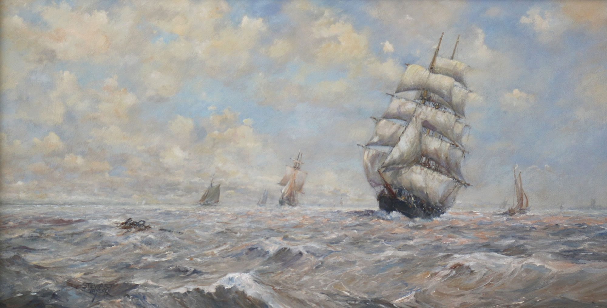 Oil painting by East Yorkshire marine artist Stewart Taylor