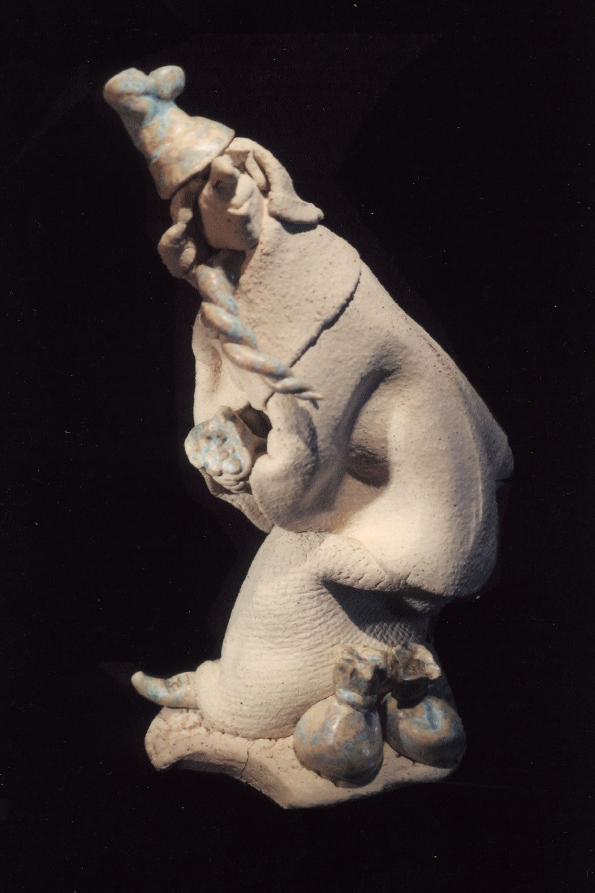 Sculpted stoneware figure by East Yorkshire ceramicist Stewart Taylor