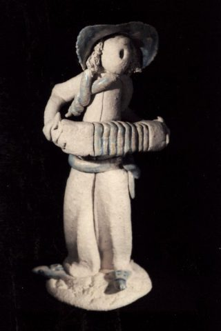 Stoneware sculpted figure by East Yorkshire sculptor Stewart Taylor