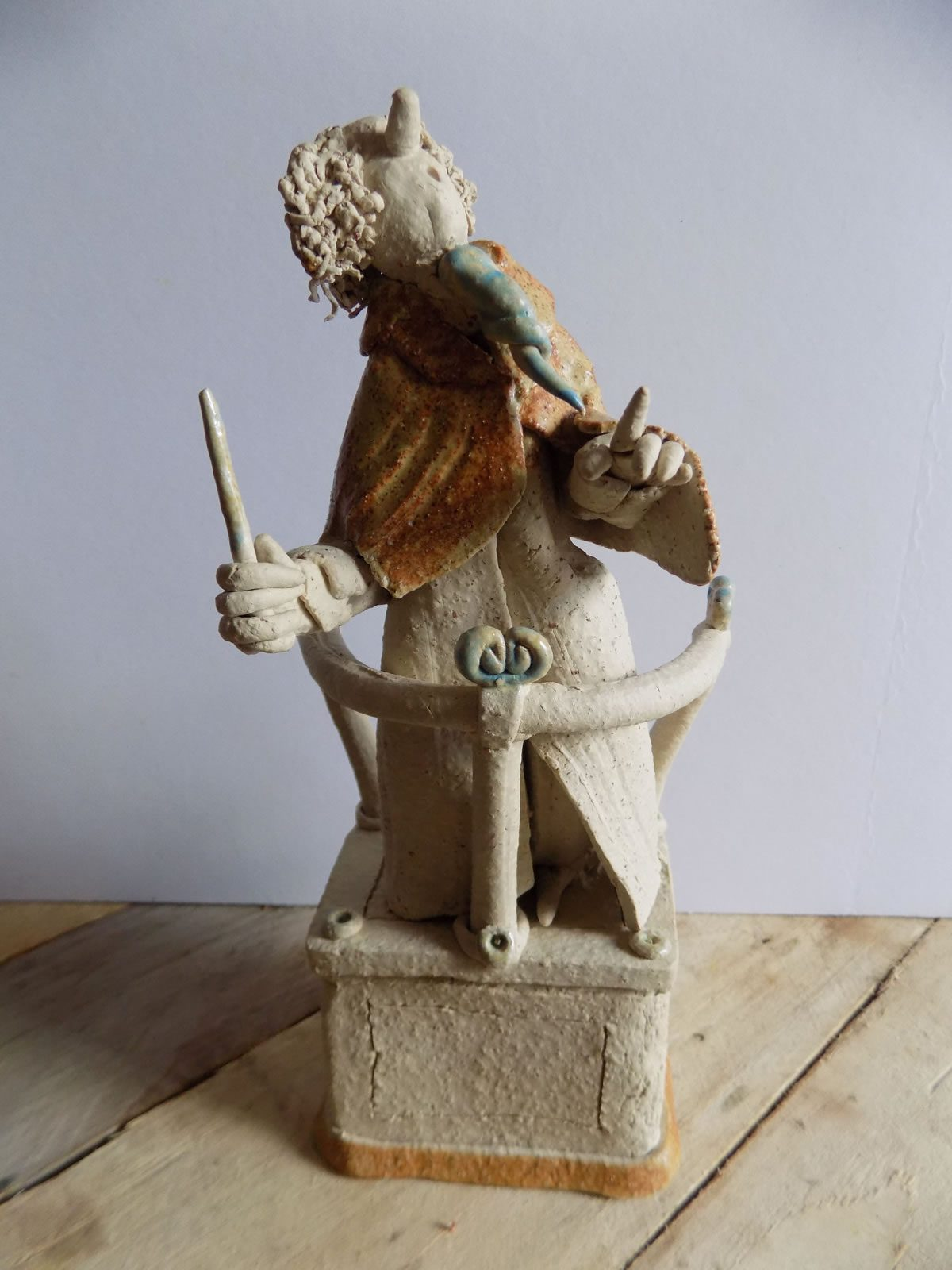 Stoneware figure sculpture by East Yorkshire ceramicist Stewart Taylor
