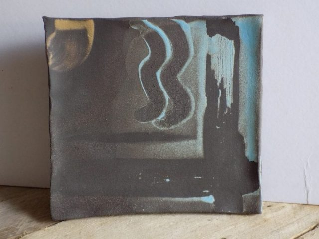 Stoneware tile by East Yorkshire ceramicist Stewart Taylor