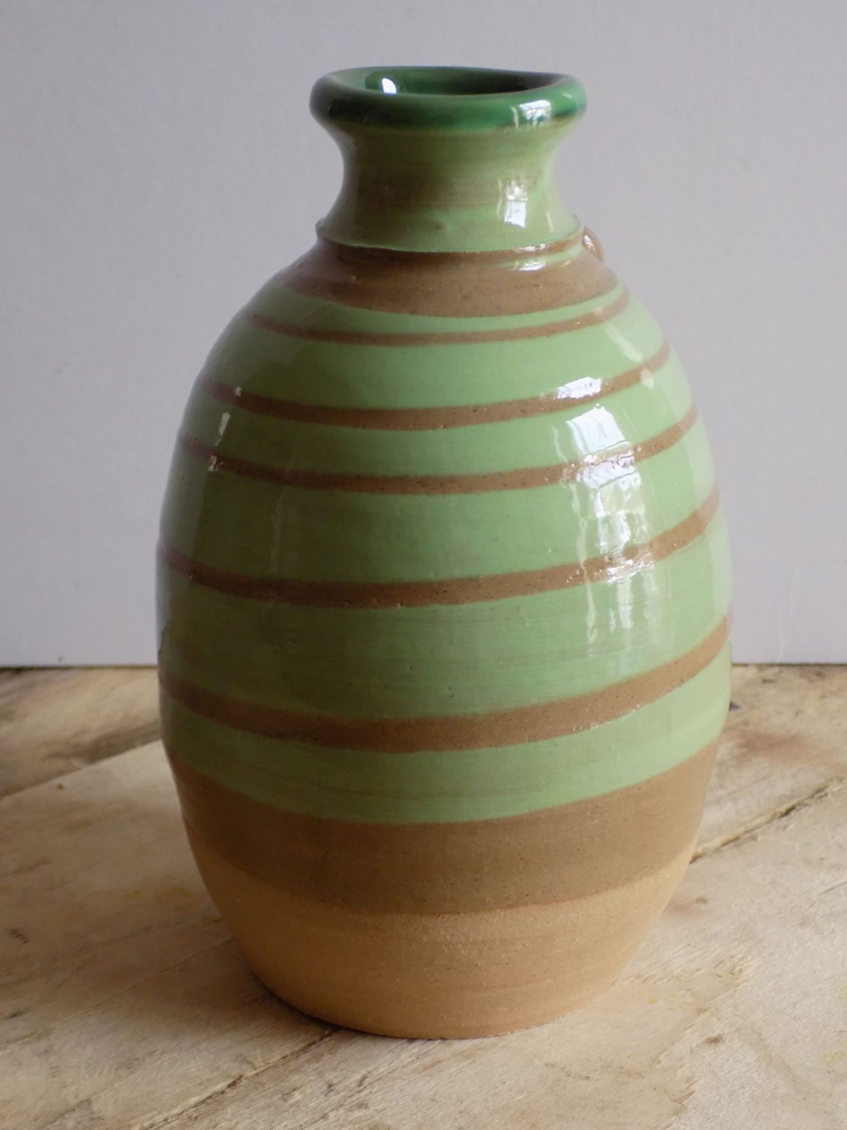 Stoneware twist bottle by East Yorkshire ceramicist Stewart Taylor