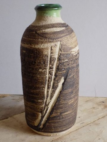 Stoneware bottle by East Yorkshire ceramicist Stewart Taylor