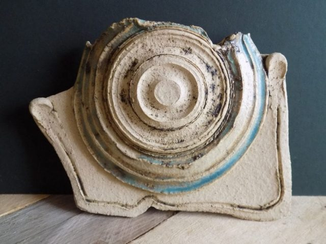 Contemporary stoneware wall holder by East Yorkshire ceramicist Stewart Taylor