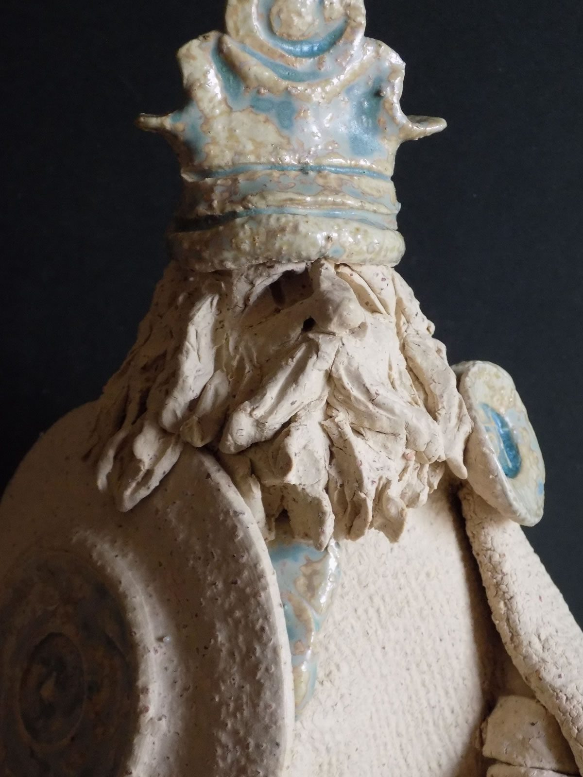 Stoneware figure sculpture by East Yorkshiire ceramicist Stewart Taylor
