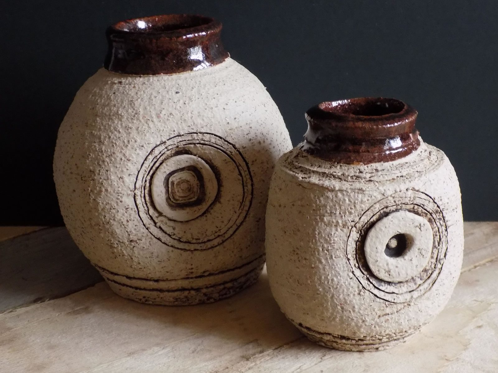 Stoneware bottles by East Yorkshire ceramicist Stewart Taylor