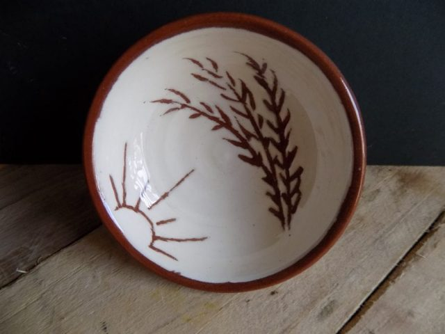 Terra cotta bowl by East Yorkshire ceramicist Stewart Taylor
