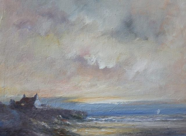 Romantic marine seascape of the Kent coast by Yorkshire artist Stewart Taylor