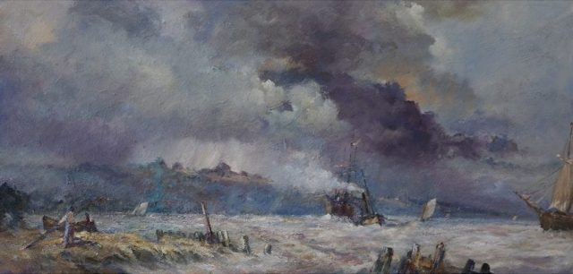 Romantic marine oil painting by East Yorkshire artist Stewart Taylor