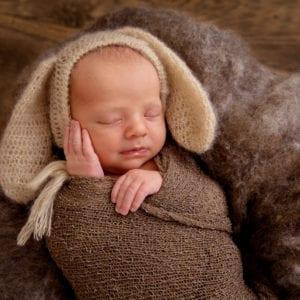cute newborn baby photography newborn photoshoot hull newborn photography bunny