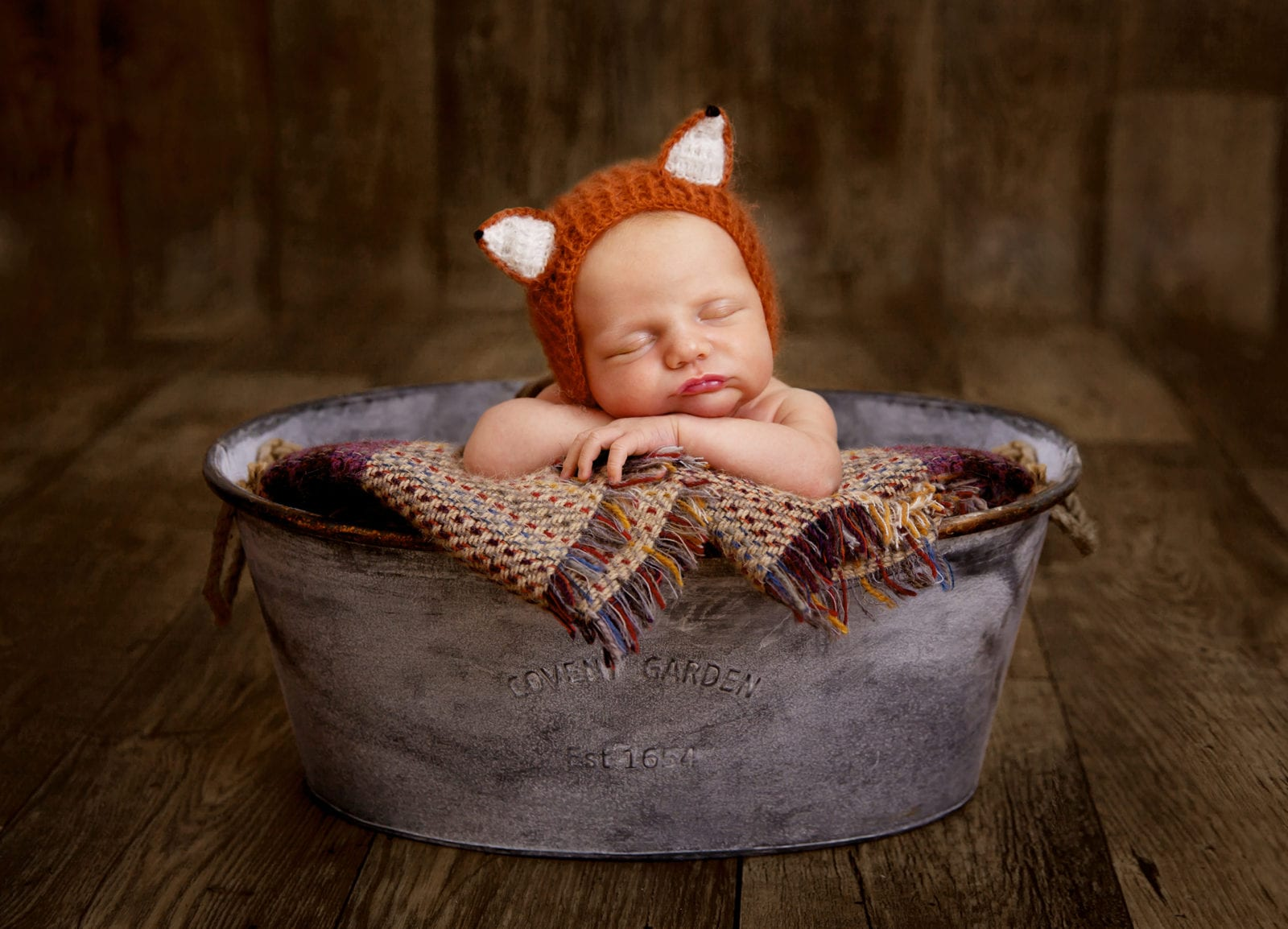 Newborn photography in studio fox newborn photoshoot beautiful newborn baby photography