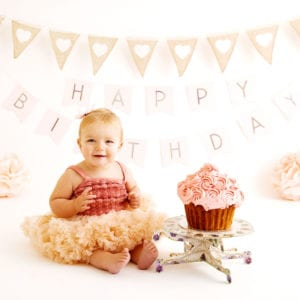 Photography of baby's first birthday
