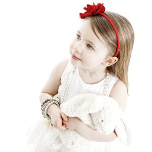 Cute little girl portrait photograph in East Yorkshire studio