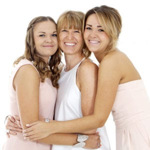Family portrait photography with all the ladies